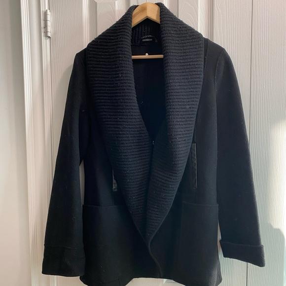 Mackage black fitted wool coat